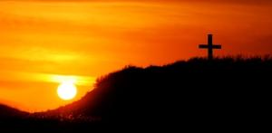 Beach Cross Sunset